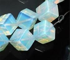 8x8mm Sri Lanka Moonstone Square Gemstone Loose Bead 15''