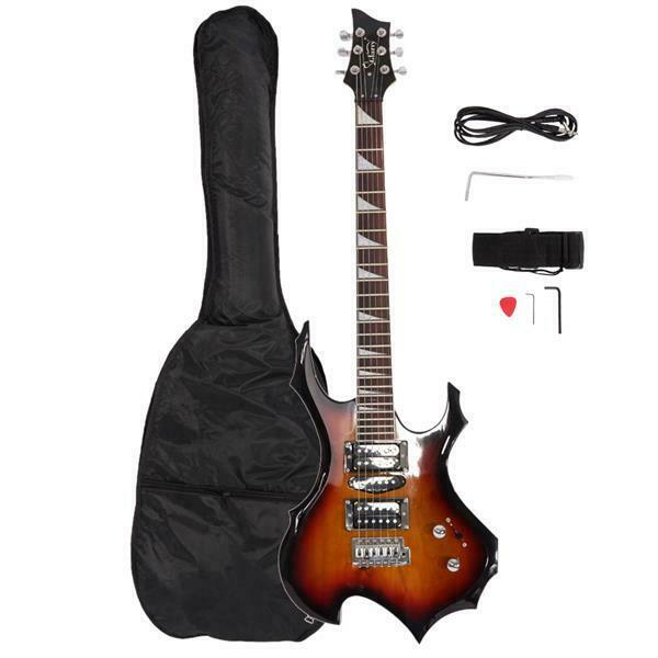 Glarry Flame Electric Guitar HSH Pickup Shaped Electric Guit