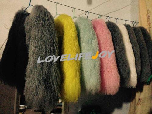 Parka Flurry Long Jacket Outwear Hair Coat Fur Lamb Women Mongolian Shaggy Real axBqCEwP