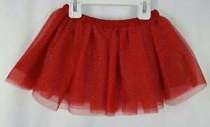 NWT-Gymboree-Toddler-Girls-2T-Red-Sparkle-Tutu-Tulle-Christmas-Holiday-Skirt
