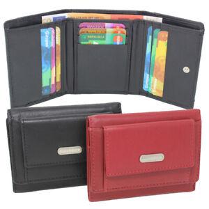 Leder-Miniboerse-Geldboerse-Geldbeutel-Taschenboerse-Damen-Herren-RFID-Schutz-klein