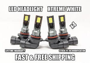 Factory Fit LED Headlight Bulb for Jaguar XJ6 High & Low Beam 1990-1997 Set of 4