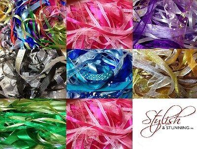 Mixed Ribbon Off Cuts 25 Metres Various Sizes Colours Arts Crafts Scrapbooking