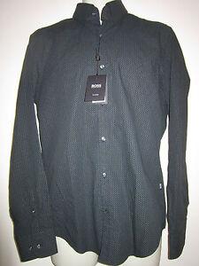 e00f1ef80 HUGO BOSS T-Simon Casual Shirt Tailored Finest Italian Cotton Sz M ...
