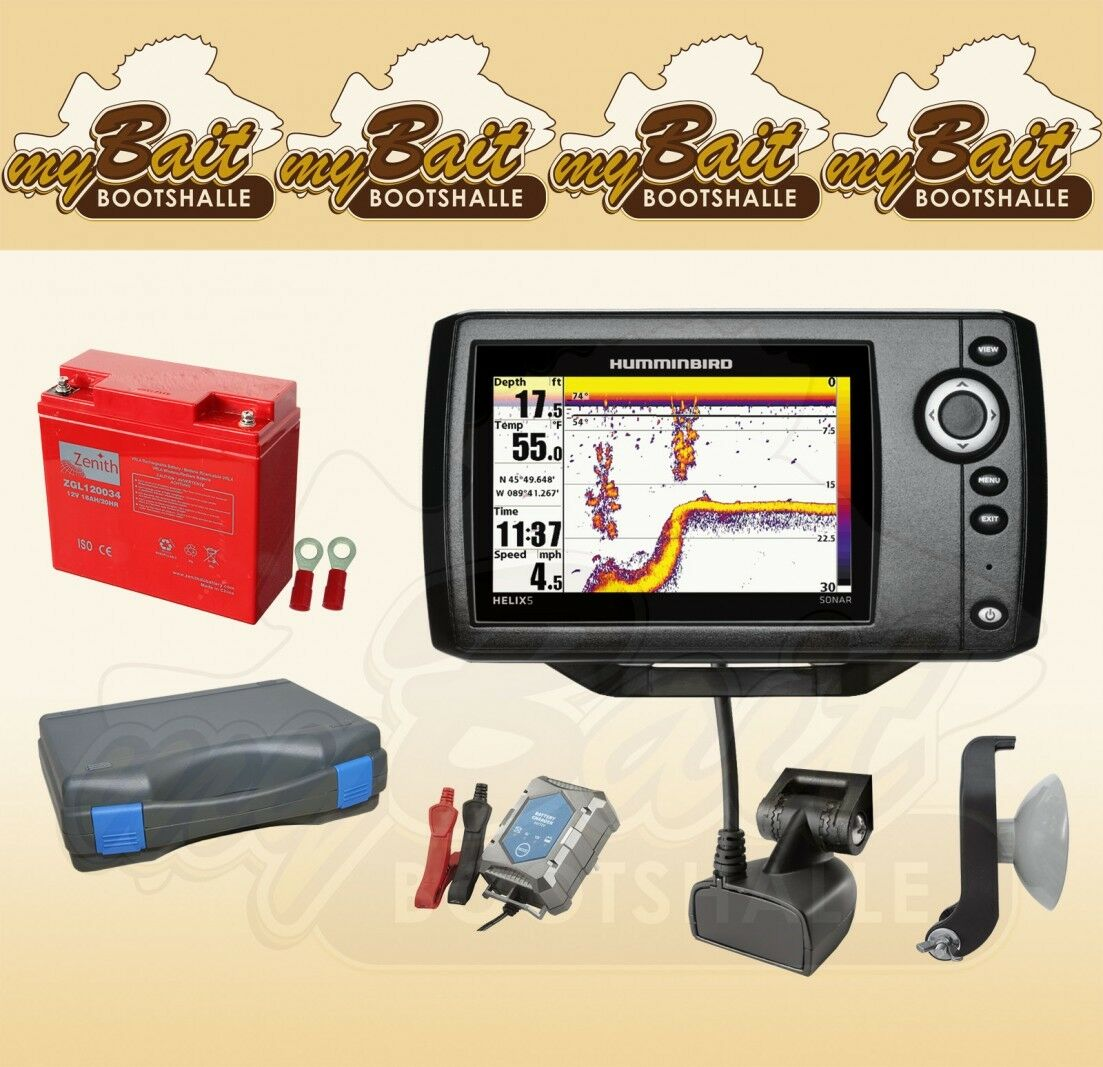 Humminbird Helix 5  Sonar G2 Ecosonda (83 200 Khz ) Conjunto Portátil 2  Web oficial