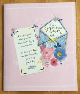 "Butterfly /'Wonderful Nan' 3D Birthday Card 7.25""x6"""