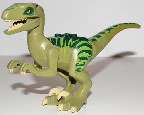 Lego Dino-Raptor Con verde Oscuro Y Cal posterior Figura