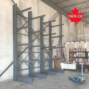 Structural Cantilever Racking In Stock - Made In Canada - Quick Ship Across Canada - Industrial Storage Rack Saskatchewan Preview