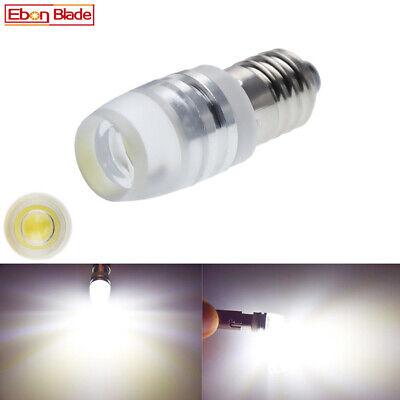 1Pcs E10 COB 2W Screw LED 3V Small Pure White For Flashlight Torches Bulb Lamp
