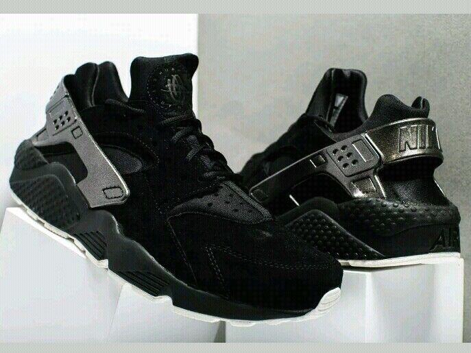 Nike Air Huarache Run PRM Black Sail Men's Running shoes 704830 014 size US 10.5