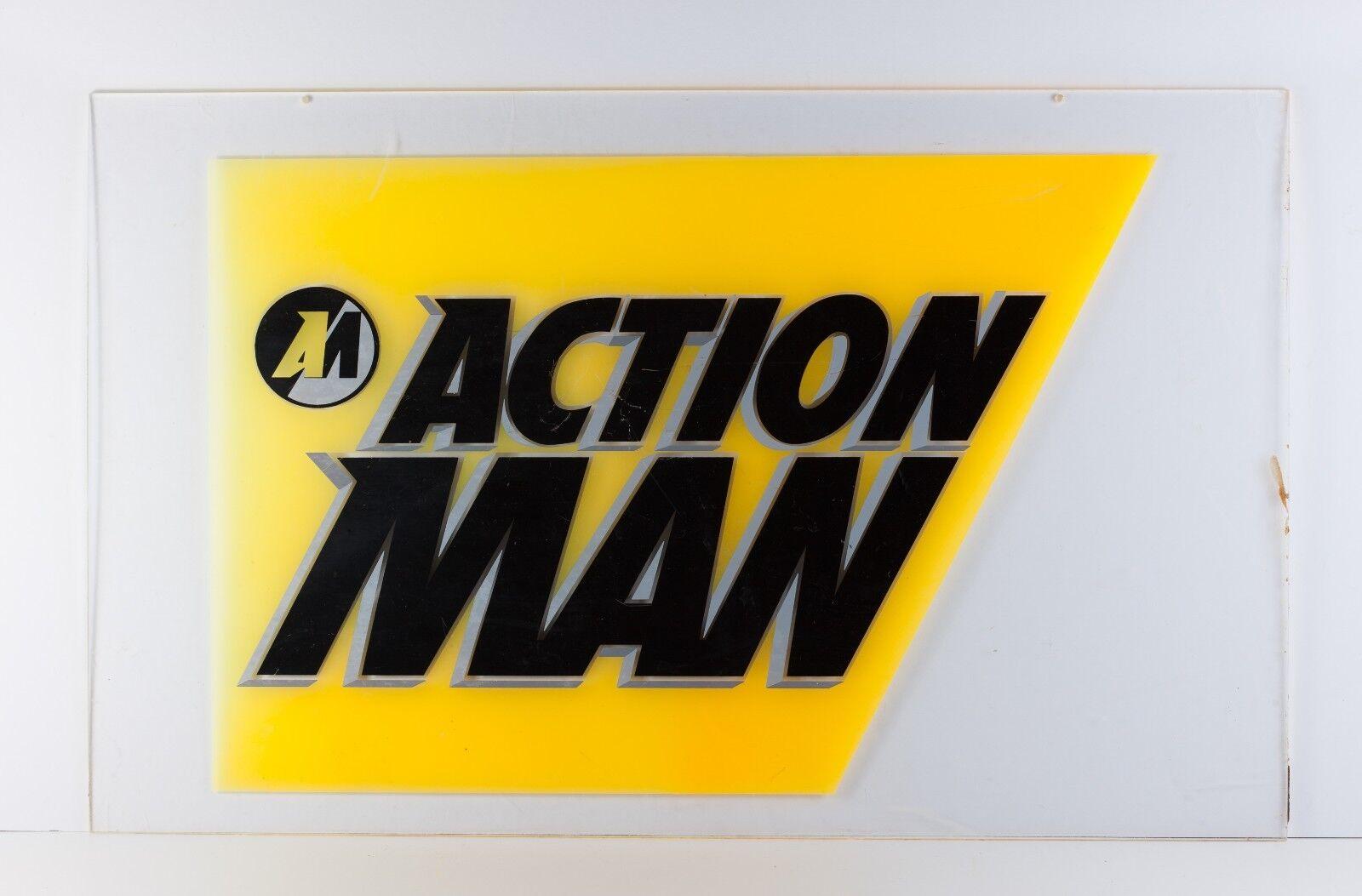 comprar descuentos Vintage Acción Man Raro Juguete Anuncio Tienda Pantalla Pantalla Pantalla plexiglás  protección post-venta