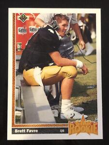 1991 Upper Deck #13 Brett Favre Falcons Packers HOF Rookie Card