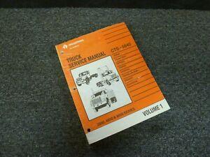 1998 International 4600 4700 4800 4900 Truck Brakes Axle ...