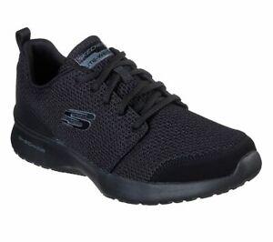 Skechers-Noir-Wide-Fit-Chaussure-Hommes-Memoire-Foam-Air-Sport-Casual-Comfort-Dentelle-52787