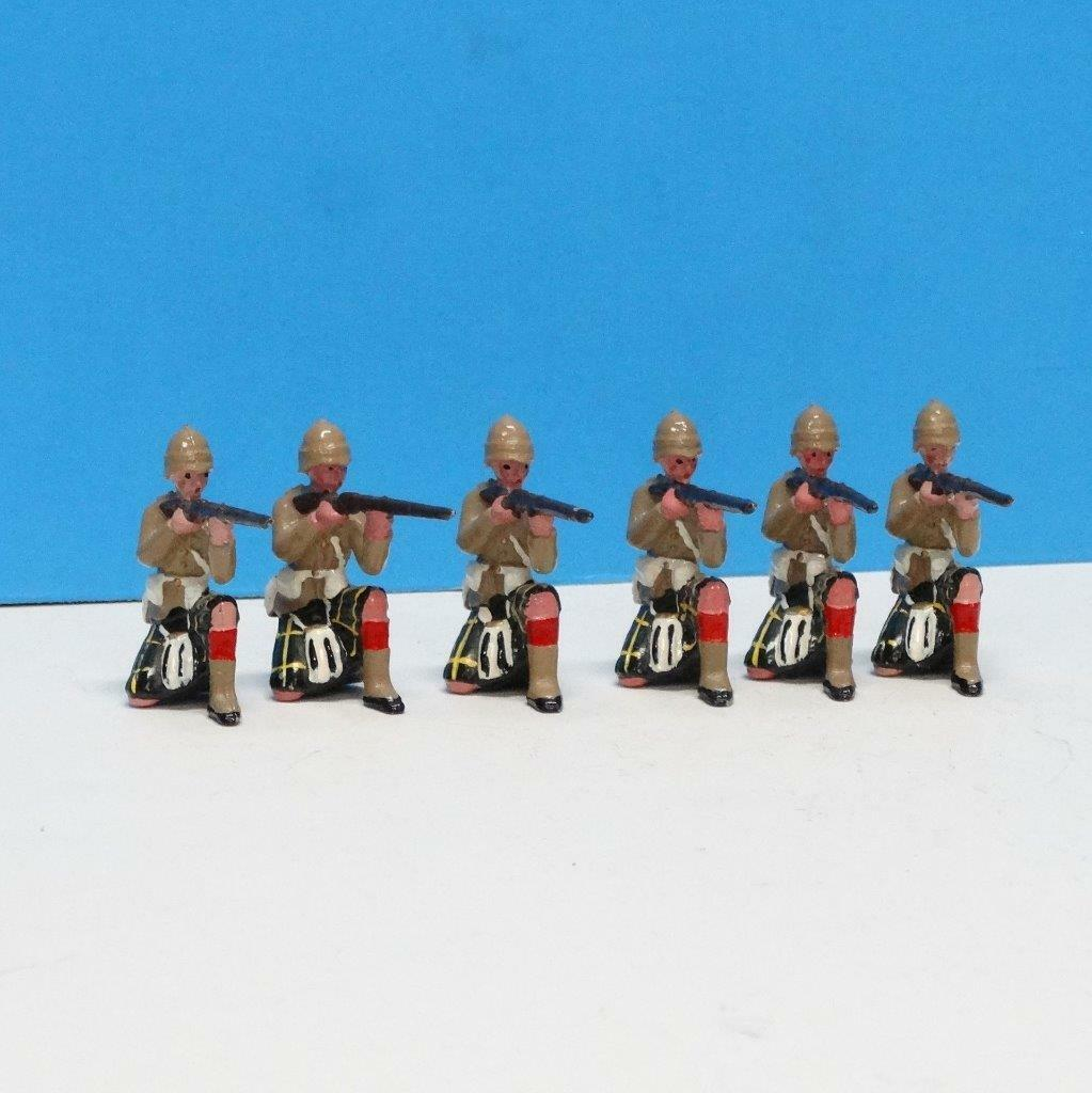 MI-339 - Gordon Highlanders - Sudan (6 figs) - Manufacturer Unknown - 54mm Metal