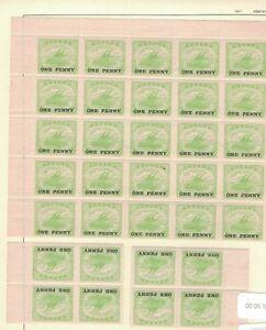 1917-Australia-Manate-Papua-SG-106-1d-Green-Block-25-Plus-8-MNH