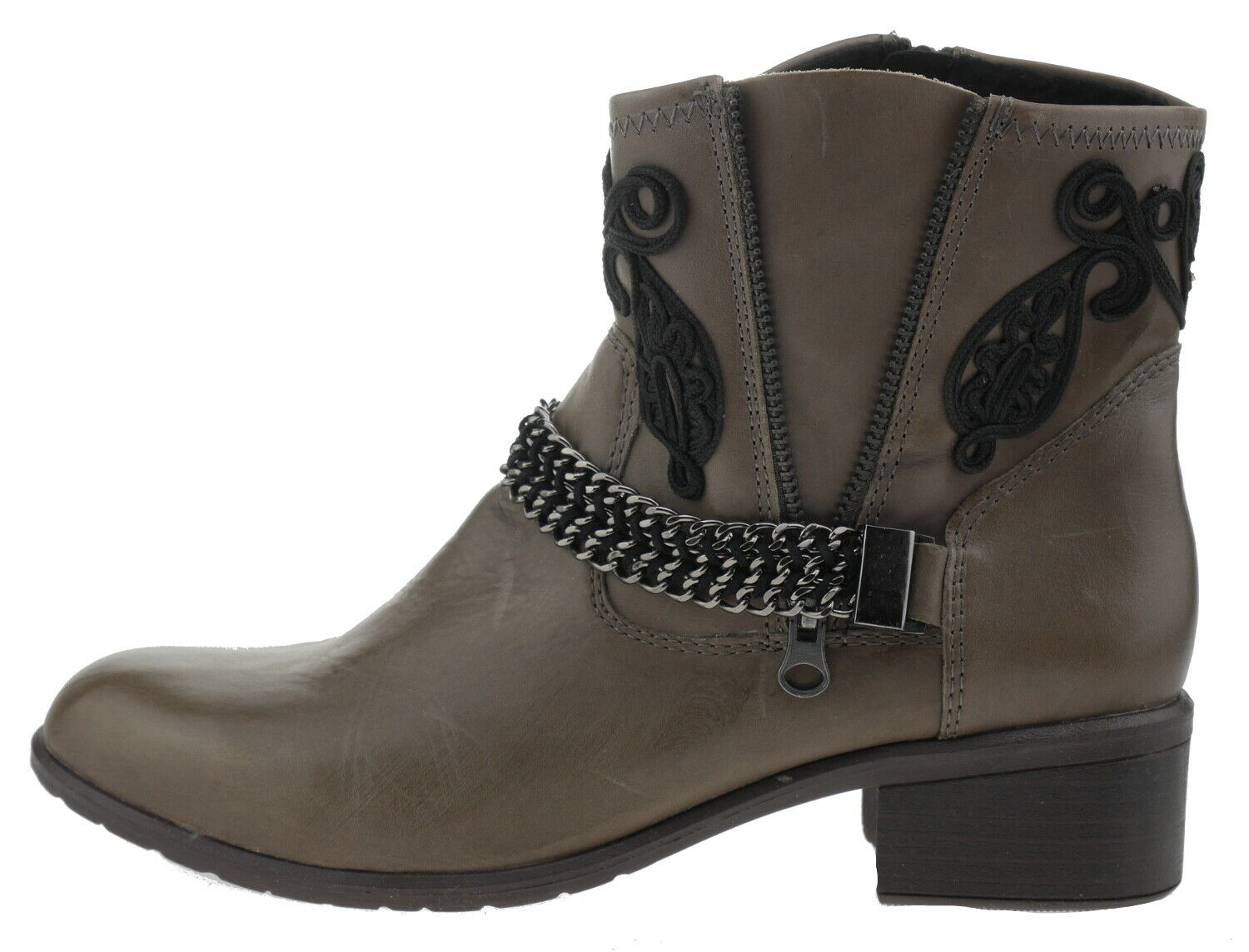 Laufsteg Hw150407 Leather Ankle Boot Taupe 185611