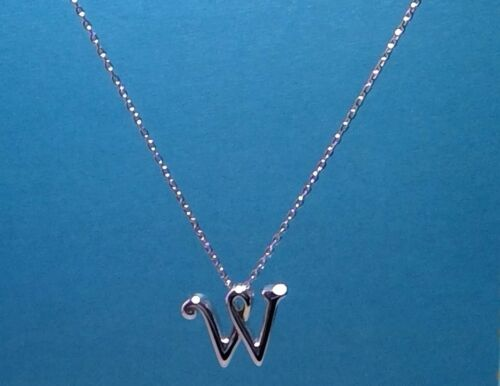 environ 45.72 cm PRINCESS PRIDE Sterling Silver Initiale W Collier 18 in Usa Made