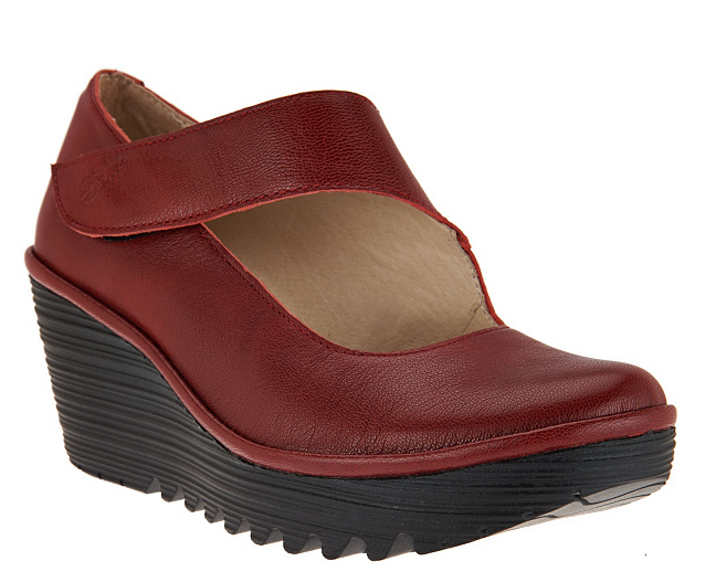 la migliore moda FLY London Leather Wedge Mary Janes - Yasi Cherry rosso rosso rosso EU36 US 5.5 New  promozioni