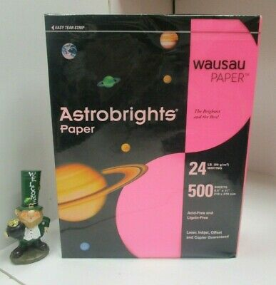 Office Supplies Impartial New Gamma Pink Wausau Astrobrights 24 Lb Paper 8 1/2 X 11 Ream 500 Sheets