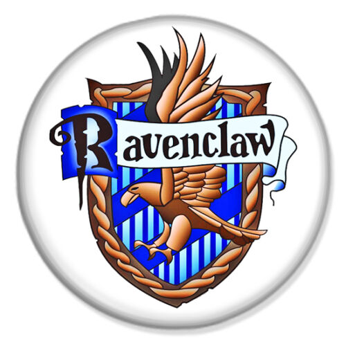 "HARRY POTTER Ravenclaw Crest White 25mm 1/"" Pin Badge Button J K Rowling"