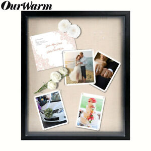 3d Shadow Box Frame Display Case With Linen Background Wedding