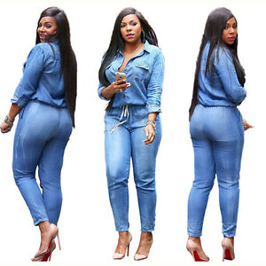 alennusmyynti myymälä aina suosittu Details about Women's Bodycon Jeans Denim Jumpsuit Overalls Casual Rompers  Trousers Pants