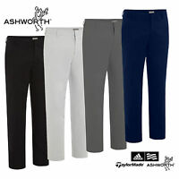 Ashworth Ez-tec2 Modern Fit Solid Stretch Flat Front Pant Golf Trousers