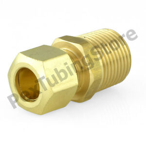 5 Brass Fitting Compression Male Connector Male Pipe Size 3//8 Tube OD 3//8 Qty