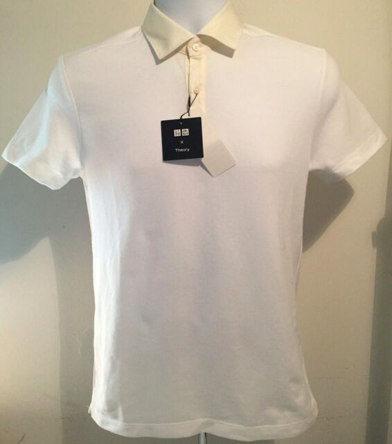 829201b1 THEORY x UNIQLO 'Cleric' Dry Pique Short Sleeve Polo Shirt Men's L White *