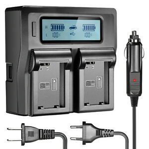 Neewer-Dual-Channel-Battery-Charger-with-LCD-Screen-for-Sony-NP-FW50-Battery