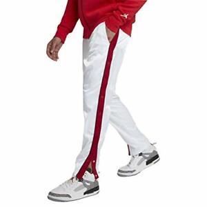 566b5a8f6ca2ee Men s Jordan Sports Wear Satin Full Snap Jogger Track Pants Athletic ...
