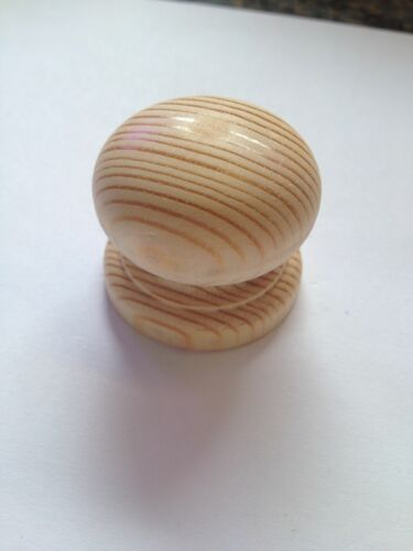 hafele Pine wood Door Knobs Unfinished Various Sizes Pack of 2