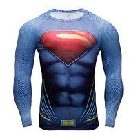 Superman Superhero Marvel Costume Quick-dry 3d Sports T-shirt Gym Cycling Jersey