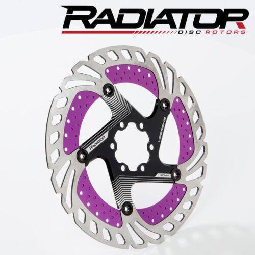 Purple//Black Uberbike Radiator Floating Disc Brake Rotor
