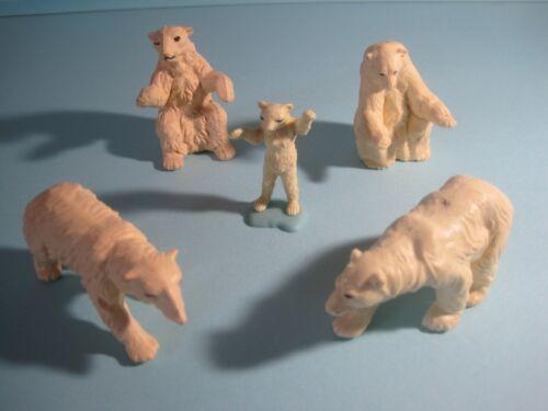 ours polaires x5 variétés différentes Britains Plastic zoo animaux