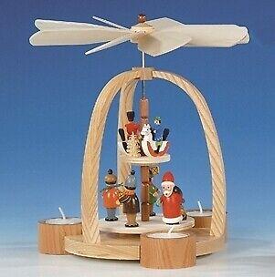 Pirámide de mesa con Santa Claus y altura del jinete 24 cm NUEVO