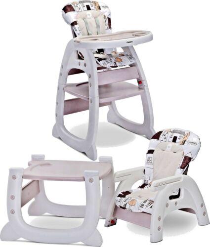 2IN1 HOMEE VOM CARETERO Hochstuhl Kinder Baby einstellbar Babystuhl und Esstisch