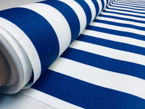 Teflon Waterproof Outdoor BLUE /& White Stripe Fabric Stripes Material 140cm wide