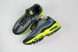 huge discount 9ab00 b4c49 Image is loading Authentic-Nike-Air-Max-95-Gray-Blue-Yellow-