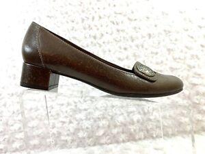 CLARKS-Artisan-Size-8-5W-Women-s-Brown-Brightwood-Mary-Jane-Block-Heel-Shoe