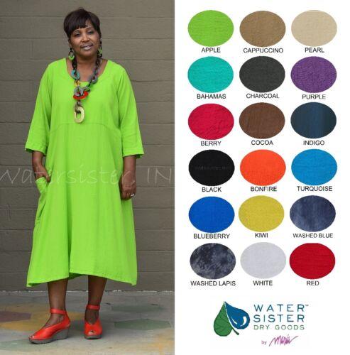 2X+ L//XL 3 S//M 2019 COLORS 2 WATERSISTER Cotton Gauze FELICITY Dress Pocket 1