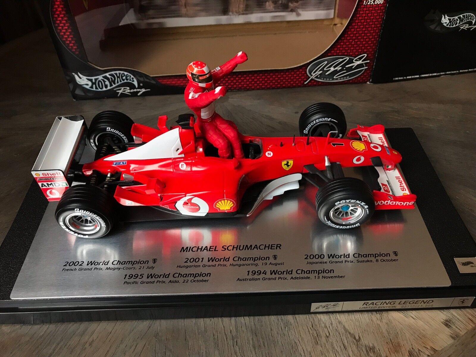 F1 Ferrari F2002, Ltd 5ème titre Mondial SCHUMACHER, 1 18 avec boite