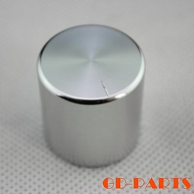 30*25mm CNC Machined Solid Aluminum AMP Potentiometer Volume Knobs Silver Lot*2
