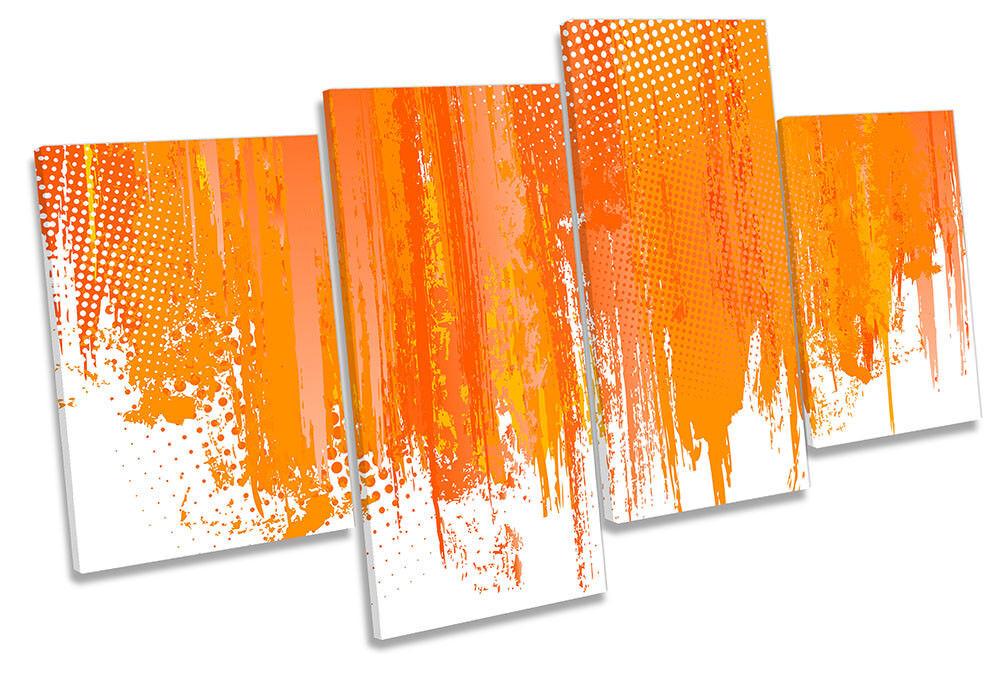 Abstract Orange Design Framed MULTI CANVAS PRINT Wall Art