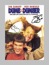 "DUMB AND DUMBER  PP SIGNED 12"" X 8"" POSTER JIM CARREY"