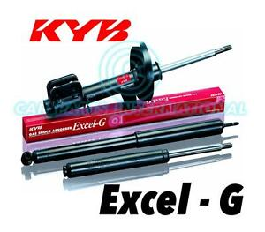 2x NEW KYB FRONT EXCEL-G Gas SHOCK ABSORBERS Part No. 341069