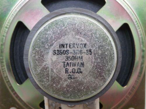 "Intervox S350S-3R6-35 3.5/"" Computer Electronics 3-1//2/"" Speaker 35OHM 35Ω"