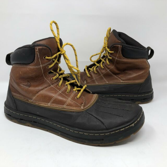 18638af4bf2 Nike ACG Woodside Leather Rubber Duck BOOTS 386469-200 Brown Men's Sz 9