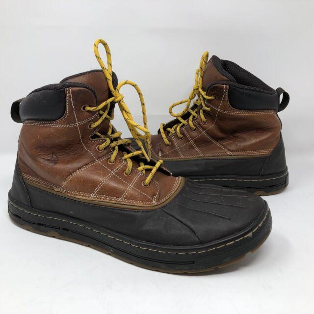 f2e376f283d Nike ACG Woodside Leather Rubber Duck BOOTS 386469-200 Brown Men's Sz 9